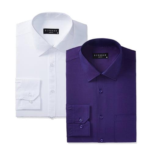 Diverse Mens Printed Slim Fit Cotton Formal Shirts