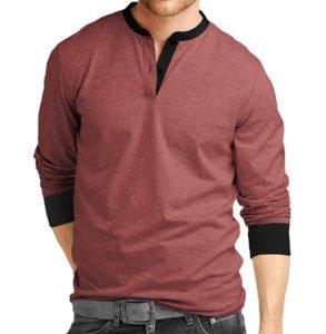 Henley Mens Cotton Full sleeve T Shirts