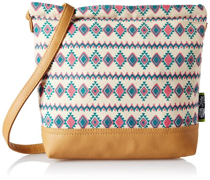 Kanvas Katha Womens Sling Bag Multi color KKSAMZAUG004
