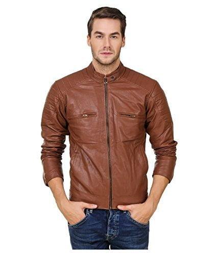 Zacharias Mens Trendy Leather Jacket