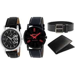 2 Watches With Wallet Belt Stunning Combo