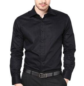 Lee Marc Stunning Mens Shirt in Black