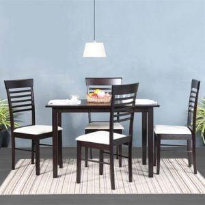 Mintwud Four Seater Dining Set in Wenge Finish