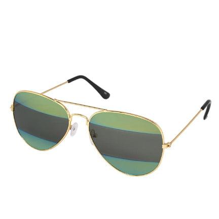 Silver Kartz Black Green Gradient Aviator Sunglasses