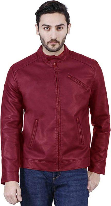 Zacharias Boys Pu Faux Leather Jacket