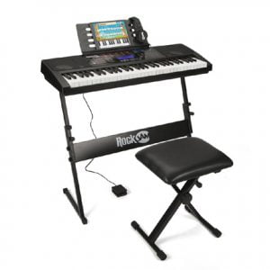 61 Keys Electronic Piano Keyboard with Stand Stool Headphones
