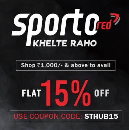 Get Flat 15 Off on Sportswears at sporto