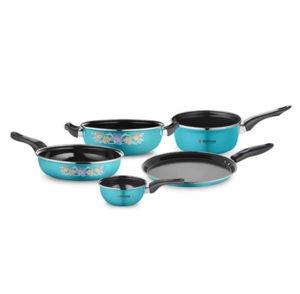 Hotsun Enamel Induction Bottom Cookware Set of 5