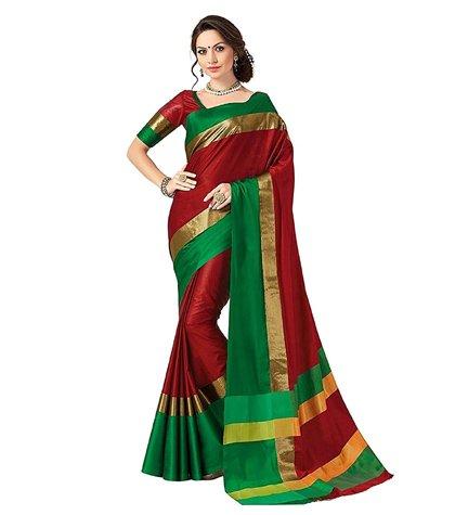 Indian Beauty Piece Art Silk Sarees with Blouse