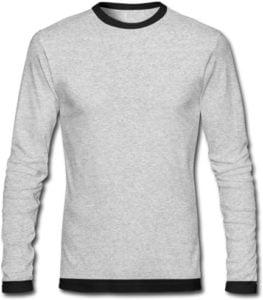 Mens Round Neck Blank Full Sleeve T Shirt
