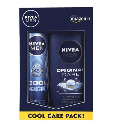 Nivea Men Deodorant Spray Shower Gel Combo