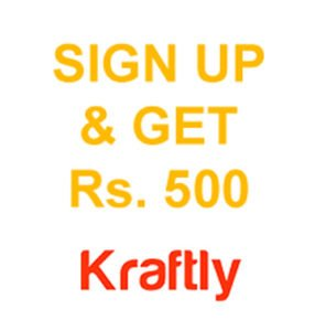 Sign Up Get Rs. 500 Free Shopping at Kraftly