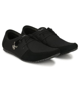 T Rock Mens Black Sneaker Casual shoes