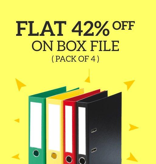 Get Flat 42 Off on Box Files