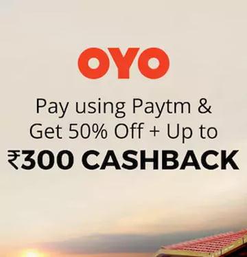 Paytm at OYO Hotels Get 50 off Rs.300 cashback