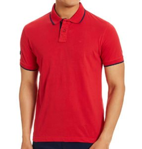 Peter England Mens Polo Red Color