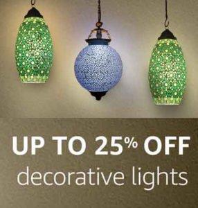 Upto 25 off on Decorative Lights