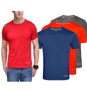 AWG Mens Dryfit Polyester T shirts Set of 3