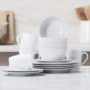 AmazonBasics 16 Piece Dinnerware Set