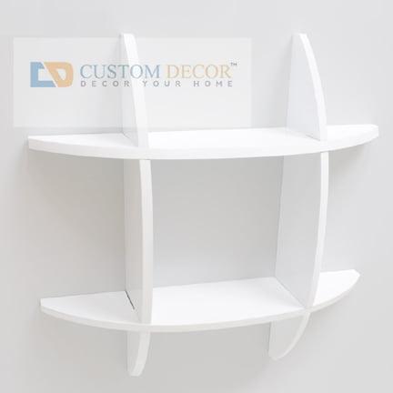 Custom Decor Ideal Wall White Shelf