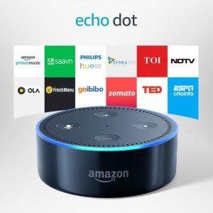 Echo Dot Voice Command controlling smart gadget