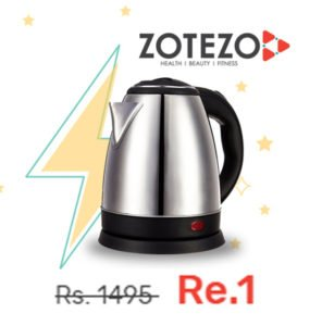 Electric Kettle in Rs. 1 at Zotezo Flash Sale