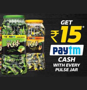 Free Rs. 15 Paytm Cash with Pulse Candy