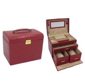Handmade Jewellery Box with 3 Removable Drawers