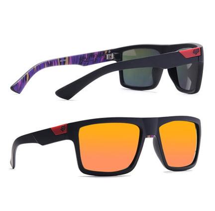 JRS Gold Mirror Retro Square Sunglasses