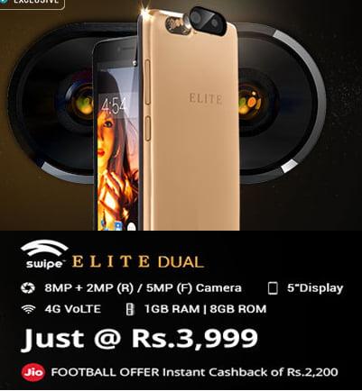 Swipe Elite Dual Camera 4G Volte Mobile