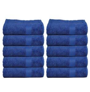 Trident 400 GSM 10 Pcs Face Blue Towels
