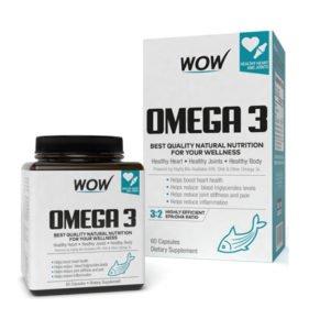 Wow Omega 3 Fish Oil Capsules 60