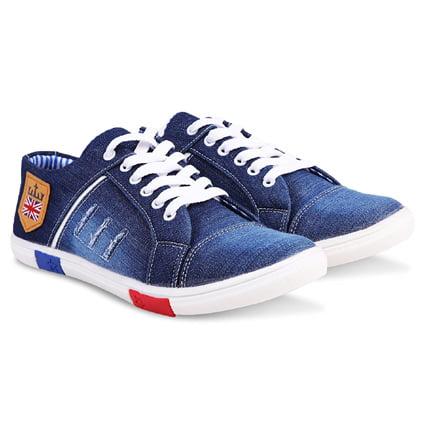 Zovim Men Denim Jeans Casual Shoes