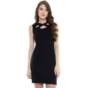 Miss Chase Womens Black Mini Bodycon Dress