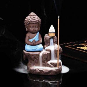 Monk Buddha Showpiece With Free Smoke Backflow