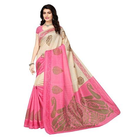 Mrinalika Fashion Art Silk Saree With Blouse