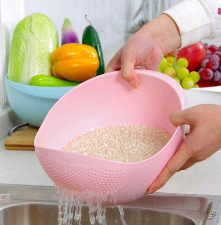 Rice Pulses Vegetable Washing Bowl Strainer