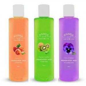 Aroma Secrets Peach Kiwi Lavender Body Wash Combo