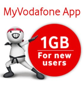 Get Free 1 GB Free with My Vodafone App