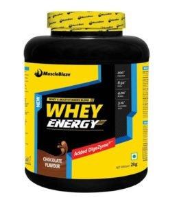 MuscleBlaze Whey Energy with DigeZyme Protein
