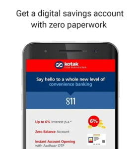 Open Kotak Mahindra Bank Account Instantly with App