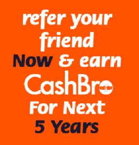 Refer Earn Cashback for 5 years