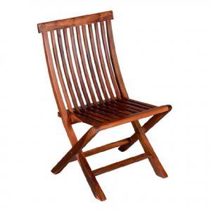 Sheesham Wood Finish Comfort Folding Chair