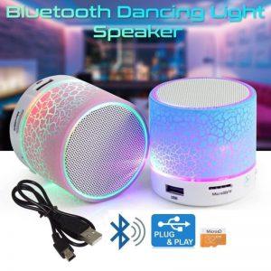 YNA Wireless Led Bluetooth Speaker With Disco Lights USB Plug Play Fm Radio Microsd Slot Mp3 Player