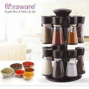 Floraware Plastic Revolving Spice Rack Set of 16