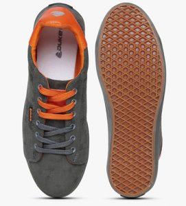 Stylish Grey Orange Duke Casual Shoes