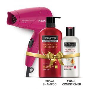 TRESemme Keratin Shampoo Conditioner Philips Hair Dryer