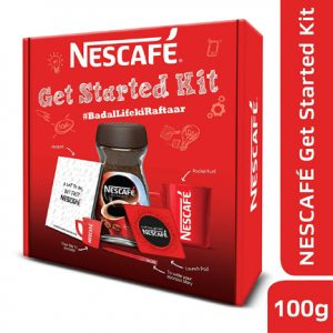 Nescafe Classic 100g Get Started Coffee Kit Free Items