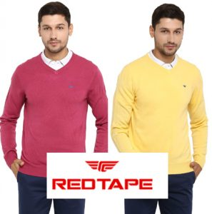 Upto 75% Discount on Red Tape Branded Men's Sweaters
