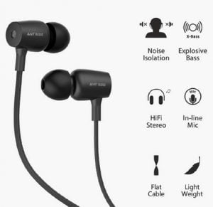 Ant Audio Thump 504 Wired Portable Hi-Fi Earphone with Mic